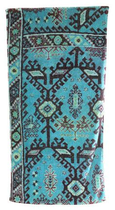 Aztec Bath Towels in Blue design by Fresco Towels