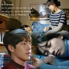 Uncontrollably Fond Kdrama, Wonderwall Oasis, Korean Drama Quotes, Weightlifting Fairy Kim Bok Joo, Kim Woo Bin, Bae Suzy, Asian Actors, Drama Movies, Movie Quotes