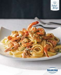"""Sometimes we like to call it """"Easy Shrimp Pasta for one,"""" for delicious reasons."""