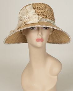 "Louise Green hat – Louise Green Millinery/ ""Helena"" in sand colour"