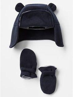 Bear hat & mitten set | Gap