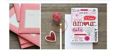 Hand letter style Valentine's Day card by Evajuliet. Really good inspiration.