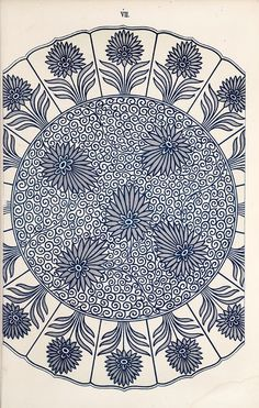 Jones, Owen, / Examples of Chinese ornament selected from objects in the South Kensington Museum and other collections. Textile Pattern Design, Textile Patterns, Pattern Art, Print Patterns, Fabric Design, Line Art Flowers, Flower Art, Chinese Ornament, Owen Jones