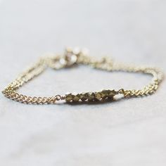 Tiny Gold Facets bracelet from Clementine Shop