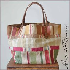 Rag Quilt Purse, Sac Lunch, Best Bags, Fabric Bags, Summer Bags, Cute Bags, Casual Bags, Handmade Bags, Bag Making