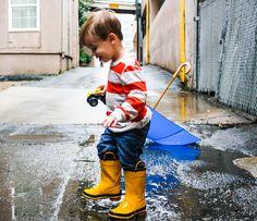 18 Months & Little Yellow Rain Boots | Spiral Macaroni