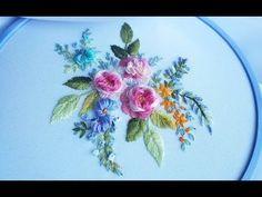 ВЫШИВКА: ЦВЕТОЧНЫЕ ШВЫ\ EMBROIDERY: Flower stitch - YouTube
