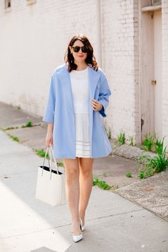all white with colorful coat