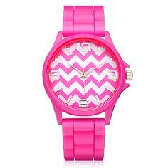 Sale 29% (3.99$) - Silicone Jelly Wave Number Round Women Quartz Wrist Watch