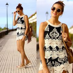 Get this look: http://lb.nu/look/8405897  More looks by Marianela Yanes… http://marilynsclosetblog.blogspot.com.es/2016/09/CROCHET-STYLE.html #marilynscloset #fashionblogger #streetstyle #ootd #summer #looks #crochet #outfits #inspiration