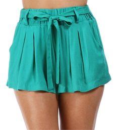 Jade Tie Front Shorts