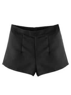 Shop Black High Waist Back Zip A-line Shorts from choies.com .Free shipping Worldwide.$25.99