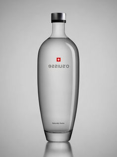 """Water, one of Switzerland's most treasured resources. The red and white Swiss cross, one of the most recognizable national identification signs and seals of quality worldwide. Graphic and Product Design, an important tradition in Swiss culture and everyday life. All this can be summed up in one term: """"Swiss-ness"""". The unique opportunity to package these elements in a bottle and also to give it the perfect shape with an accompanying branding has been one of our most exciting tasks."""