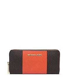 f4fe84bae01a Michael Michael Kors Jet Set Travel Colorblocked ZipAround Continental  Wallet #Dillards