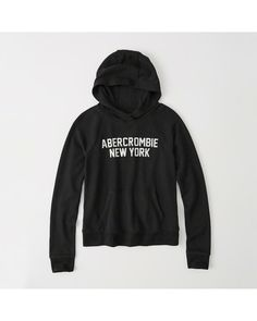 A&F Women's Logo Graphic Hoodie in Black - Size M