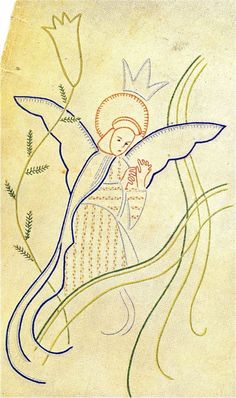 Angel Embroidery Pattern - 1938