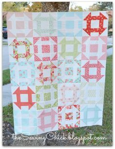 Another gorgeous Churn Dash quilt! The Sewing Chick: Churn Dash Quilt Top - Finished?