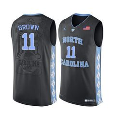 5db32d89322f Men North Carolina Tar Heels  11 Larry Brown College Basketball Jerseys Sale-Black  Brandon