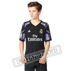 Personnalise Maillot De Real Madrid Enfant 2016 17 Third Noir/Violet | Foot769Fr