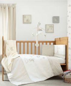 Many thanks Uncle Nick, Aunty Di, Emily & Lucy for this Night Time Hugs - Unisex 5 Piece Bedding Set (Cotbed)