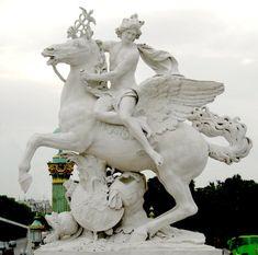 Antoine Coysevox : Mercure monté sur Pégase, Place de la Concorde