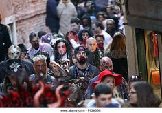 Zombie walk in Venice, Italy on 23rd January, 2016. (Stock Photo) Contributor: Andrea Spinelli / Alamy www.alamy.com http://www.alamy.com/stock-photo-venice-italy-23rd-january-2016-a-group-of-people-dressed-up-as-zombiesthe-93901254.html