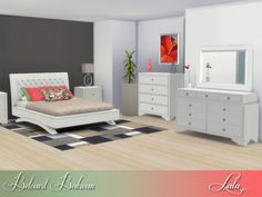 The Sims Resource: Belcourt Bedroom by Lulu265 • Sims 4 Downloads