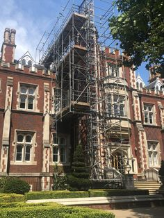 This facade scaffold wrap is an excellent example of how building wraps should look like. Digitally printed onto a mesh PVC New Hospital, Scaffolding, The Visitors, Architecture Details, Three Dimensional, Acre, Illusions, Digital Prints, Chelsea