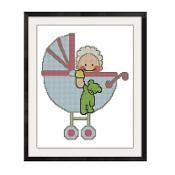Baby Buggy Cross Stitch Pattern -821 - via @Craftsy