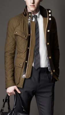 Waxed Cotton Quilted Field Jacket