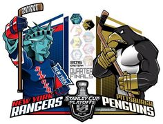 #EPoole88 (Eric Poole) is back with his renditions of the first-round Stanley Cup playoff matchups. This is for the Eastern Conference series between the New York Rangers and the Pittsburgh Penguins.