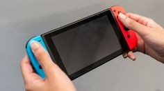 Nintendo Switch can be held vertically for some games