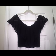 black chiffon top only worn once & in perfect condition, only selling bc I'm running out of space my loss your gain  Charlotte Russe Tops