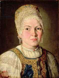Portrait of a Woman in Russian Costume, 1769 (oil on canvas)
