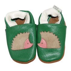 @Overstock.com.com - These adorable, soft sole baby shoes are made with top grade leather with non-slip leather soles. These shoes are designed with a cute Hedgehog pattern that magnifies the sweetness of your very own bundle of joy.  http://www.overstock.com/Baby/Green-Hedgehog-Soft-Sole-Leather-Baby-Shoes/7559241/product.html?CID=214117 $12.99