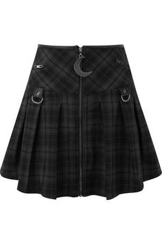 Women's Bottoms | Jeans, Leggings, Skirts & Shorts | Killstar Tartan Mini Skirt, Pleated Mini Skirt, Mini Skirts, Steampunk Fashion, Gothic Fashion, Emo Fashion, Witch Fashion, Fashion Skirts, Fashion Watches