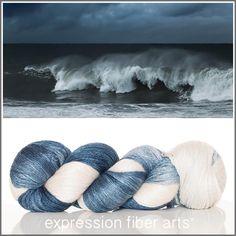 Expression Fiber Arts, Inc. - CRASHING WAVES YAK SILK LACE YARN, $39.00 (http://www.expressionfiberarts.com/products/crashing-waves-yak-silk-lace-yarn.html)