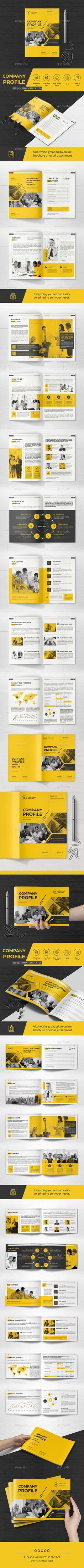 Bundle Company Profile Brochure Template PSD