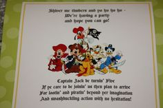 Here's my invitation for Jack's party - rhyme included!