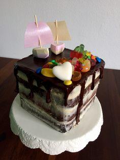 Chocolade-Snoep-Verjaardagstaart