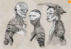 Tribal Sketches, Darren Bartley on ArtStation ★ || CHARACTER DESIGN REFERENCES (www.facebook.com/CharacterDesignReferences & pinterest.com/characterdesigh) • Do you love Character Design? Join the Character Design Challenge! (link→ www.facebook.com/groups/CharacterDesignChallenge) Share your unique vision of a theme every month, promote your art, learn and make new friends in a community of over 16.000 artists who share your same passion! || ★