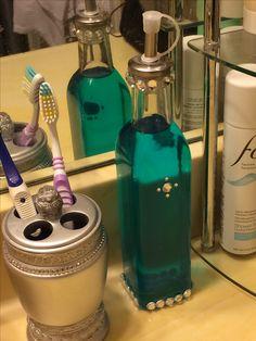 Bling mouthwash bottle