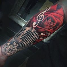 90 Microphone Tattoo Designs For Men