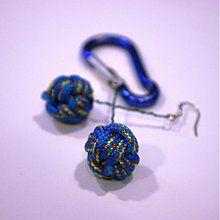 Náušnice - Horolezecké blue - 3810247_