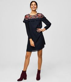 Our favorite swing dress gets updated with lace