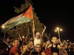 Palestinians — young and old — celebrate an indefinite ceasefire in Gaza. 26 August 2014.