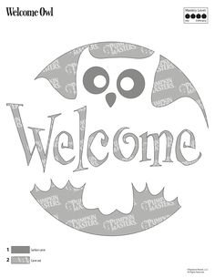 Pumpkin Masters carving tools and patterns are the perfect asset for carving novices and experts alike. To use this Welcome Owl pattern, click on the image and print the image that appears.