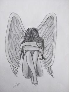 art drawings,art sketches,art ideas,line art,art p Fairy Drawings, Sad Drawings, Girl Drawing Sketches, Art Drawings Sketches Simple, Pencil Art Drawings, Drawing Drawing, Angel Drawing, Art Sketchbook, Illustration Art