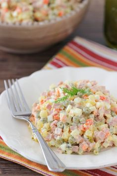 """If I had to name the most traditional Russian dish, it would be the """"Olivie"""" salad. It used to be made for holidays, parties and other specialoccasions. New Year's Eve is the biggest holiday of all, and """"Olivie"""" would be on almost all the tables as the clock would strikemidnight. The ingredients are quite common …"""