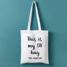 'This Is My Gin Bag, I Mean Gym' Tote Bag